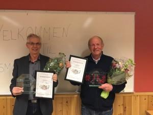 Kåre Oddnes, Nils Ivar Knutsen og Jon Otto Furunes (ikke tilstede) ble utnevnt til æresmedlemmer